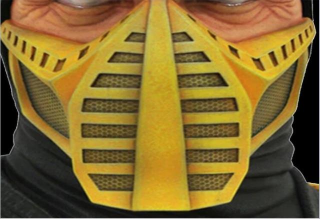 mortal kombat face mask png