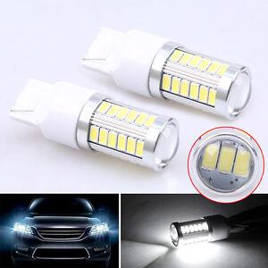 1 Pair Super Bright White 33 LED T20 7440 Car Brake Tail Turn Signals Light Bulb