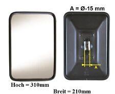 Außenspiegel Bügelspiegel L.LKW Bagger Pritsche 310x210mm ø15mm Metall Gehäuse