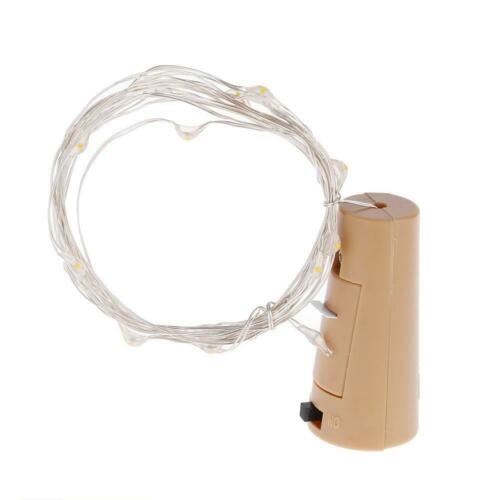 1//2m LED Battery Wire Copper Fairy String Lights Bottle Party Stopper Cork Xmas