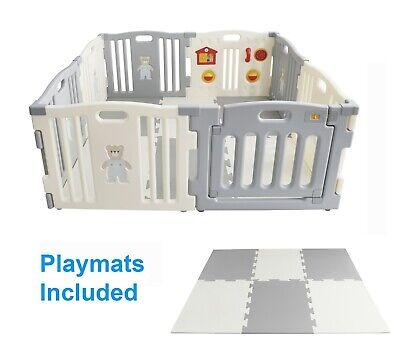 MCC Plastic Baby Playpen with Activity panel /& corner extensions 4ppp Mcc® MCC04D