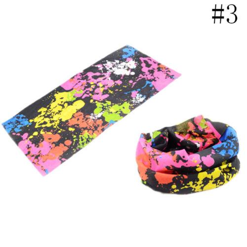 Multi Colors Tube Scarf Bandana Neck Gaiter Snood Headwear Beanie Face Mask ~