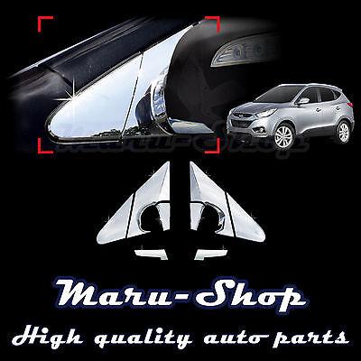 Chrome Side Rear View Mirror Bracket Cover Trim for 09~15 Hyundai ix35/Tucson