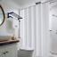 100-tissu-polyester-Design-Moderne-Lavable-Rideau-de-douche-avec-12-crochets miniature 21