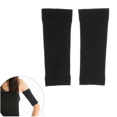 1Pair Women Weight Calories Loss Arm Shaper Massager Slimmer Wrap Belt Black