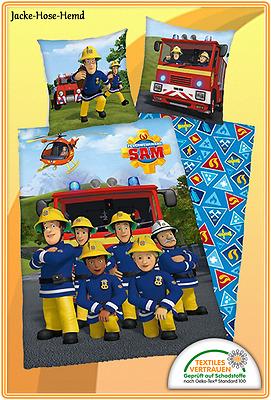 135x200cm NEU Bettwäsche Feuerwehrmann SAM Feuerwehr Hubschrauber gr