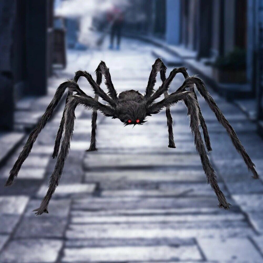 Halloween Decorations Giant Spider 6 5 ft Fake Hairy Spider Scary Props