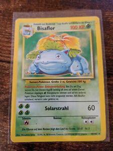 Pokemon Bisaflor 15/102 Base Set German Venusaur Light Play