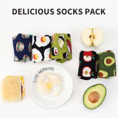 1 Paar Nette Frauen Mädchen Avocado Omelett Fruit Food Socken Lustige Sportsocke