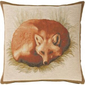 Details About Woven French Tapestry Pillow Cover Renard Fox 19 X Imported France