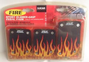 Details about SiScar Pilot Sport Project Fire Rubber Grip Pedal Pads New in  Box Car Mods