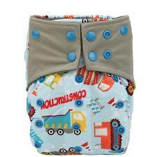 AIO Reusable Washable Cloth Diaper Nappy Charcoal Bamboo Insert Night Crane Boy