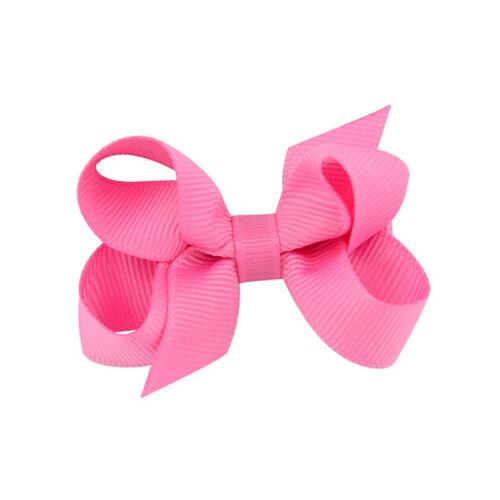 20pcs Baby Big Hair Bows Boutique Girls Alligator Clip Grosgrain Ribbon SK