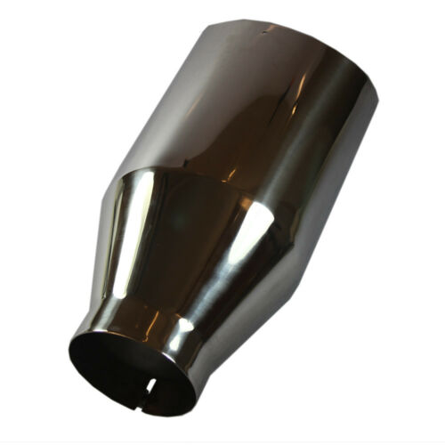 """Chrome Diesel Stainless Steel Bolt On Exhaust Tip  4/"""" Inlet 7/"""" Outlet 15/"""" Long"""