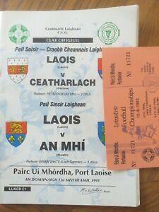 GAA 1993 Leinster Football C'Ship Laois v Meath with unused ticket