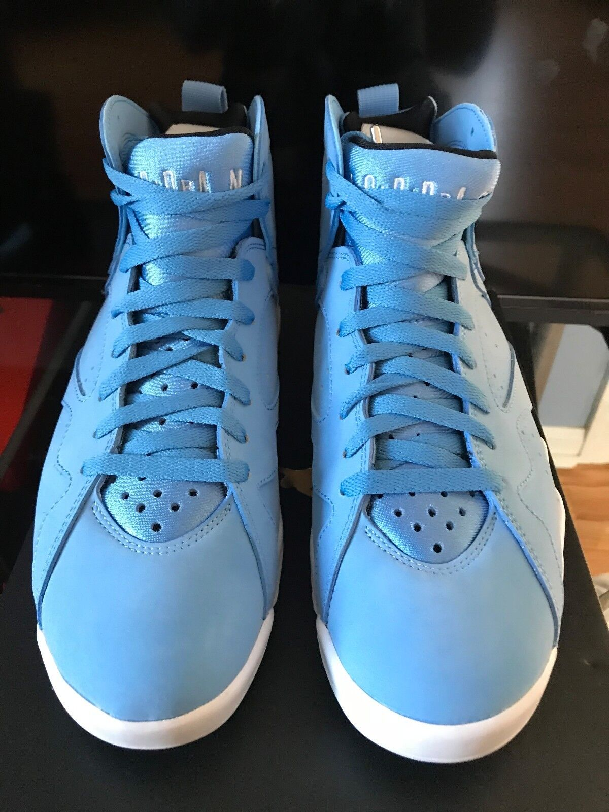 2017 AIR JORDAN VII RETRO 7 BLUE PANTONE WHITE UNC OG 304775-400 MEN'S SZ 7.5