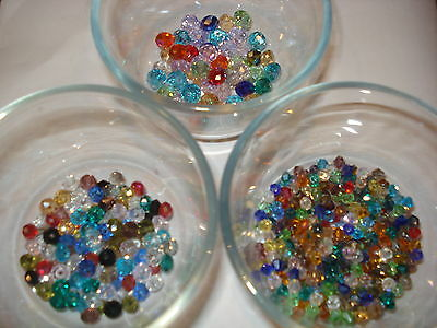 X2 30 BEADS MIXED SIZES /& COLORS CUBE SWAROVSKI CRYSTAL BEADS 4MM/&6MM USA SELLER