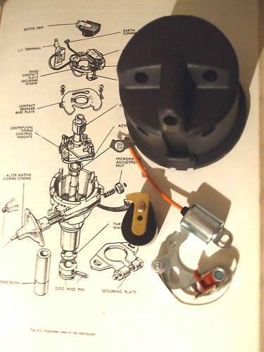1956-67 Austin A35 Distributeur Bouchon Points Bras du Rotor Condenseur Allumage