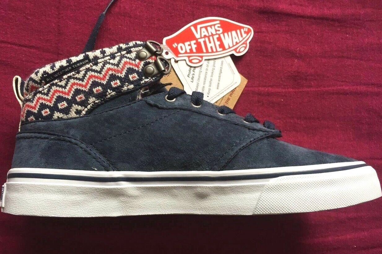 VANS bluee Off the Wall MTE Mountain Edition Leather bluee Size UK 3 New Ex Disp