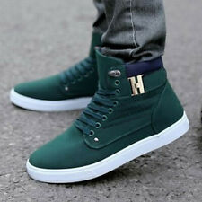 cf17e5cbc368b8 Fashion Mens Oxfords Casual High Top Shoes Leather Shoes Canvas Sneakers  New 1