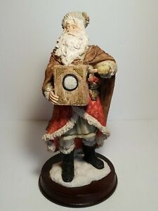 St-Nicholas-And-Me-11-034-1994-Old-World-Christmas-Santa-Claus-Statue-On-Wood-Base