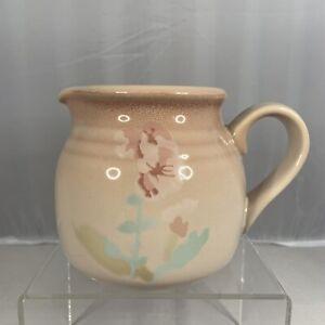 Vintage Noritake Stoneware Japan 8676 Prairie Song Creamer Retro Pink Floral Tea