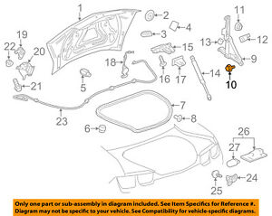 OEM NEW Driver Door Trunk Lid Switch Bezel 07-15 Aura Camaro Malibu 15853222