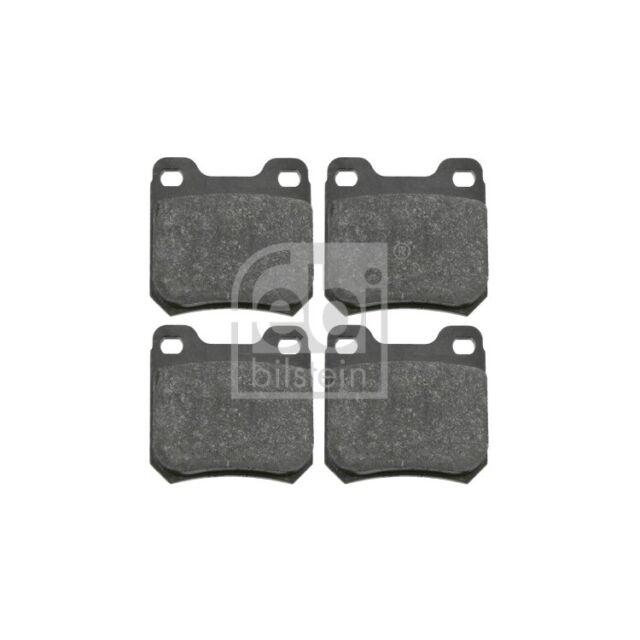 vorne, 4 Bremsbel/äge ohne Verschlei/ßwarnkontakt febi bilstein 16031 Bremsbelagsatz mit Schrauben