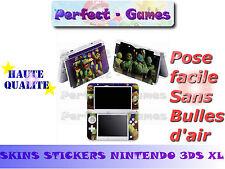 Skin sticker auto-collant vinyl tortues ninjas pour console nintendo 3DS XL LL