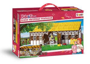 Craze 14899 BIBI und TINA Großer Martinshof-Pferdestall 35-teiliges Set Pferd