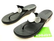 0edd1ca36 Crocs Women s Sanrah Embellished Wedge Flip Flop Sandal