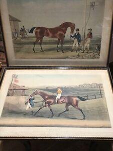 PR GEORGIAN ENGRAVINGS RACE HORSES EMILIUS & MOSES By James Pollard.