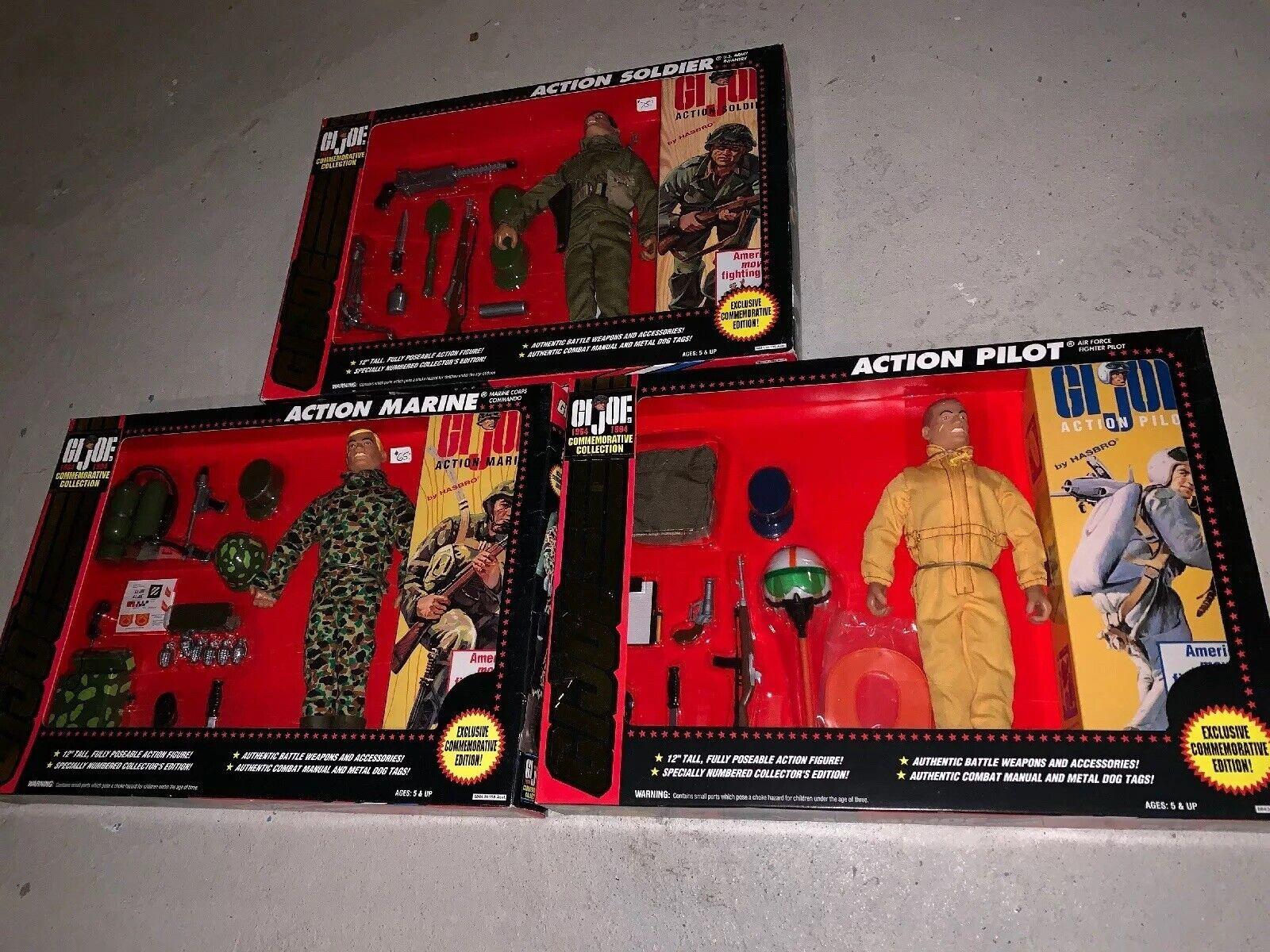 G.I. JOE Commemorative Edition 12  ACTION PILOT Marine Soldier Lot Hasbro 1993