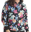 Femmes Plus Taille Floral Imprimé Brillant Manches Longues Léger Veste Aviateur