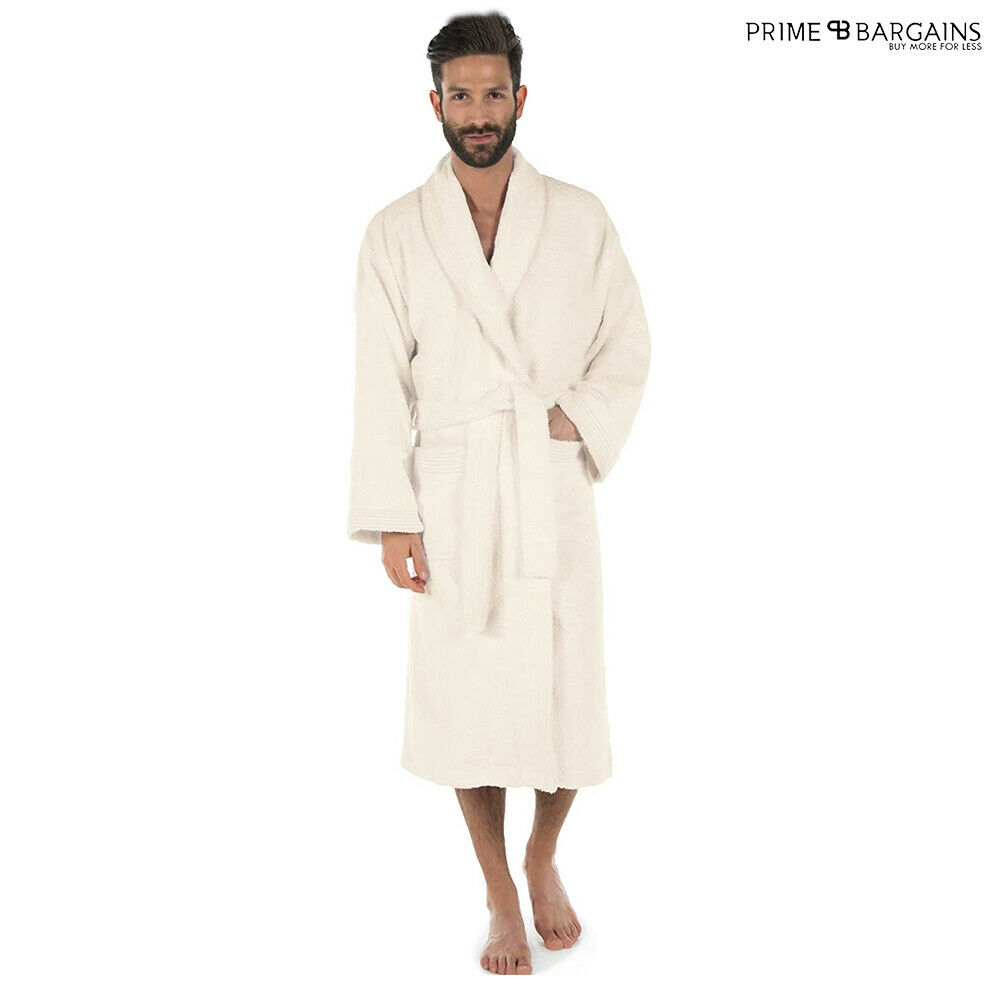 100/% LUXURY EGYPTIAN COTTON TOWELLING BATH ROBE UNISEX DRESSING GOWN TERRY TOWEL