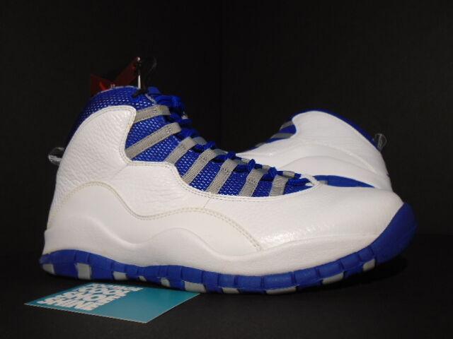 Nike Air Jordan X 10 Retro TXT WHITE ROYAL blueE STEALTH STEEL 487214-107 NEW 8.5