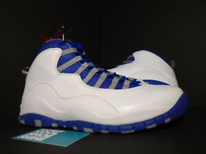 detailed look 6bf42 5f809 Details about Nike Air Jordan X 10 Retro TXT WHITE ROYAL BLUE STEALTH STEEL  487214-107 NEW 8.5