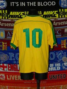 3.5/5 Brazil (Brasil) adults L #10 1998 original football shirt jersey