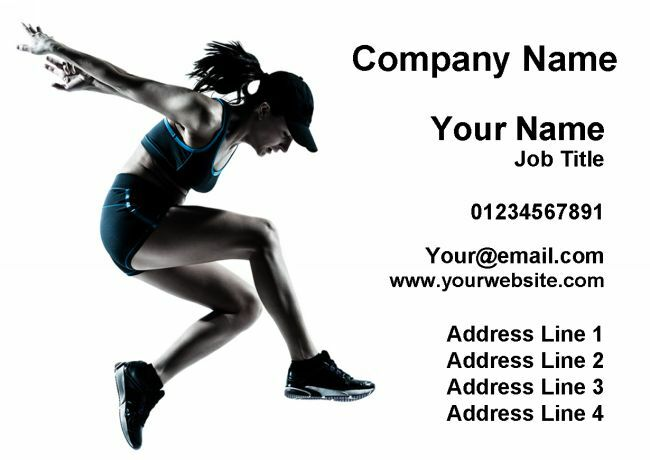 Gym Fitness Instructor Personal Trainer Personalised Business Cards