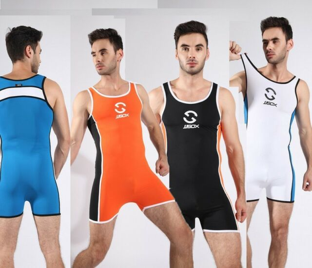 Leotards Wrestling singlet Mens Body Building Swimsuit Gym Bodywear Man Swimwear