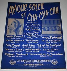 Partition-vintage-sheet-music-COLETTE-DEREAL-Amour-Soleil-et-Cha-Cha-60-039-s