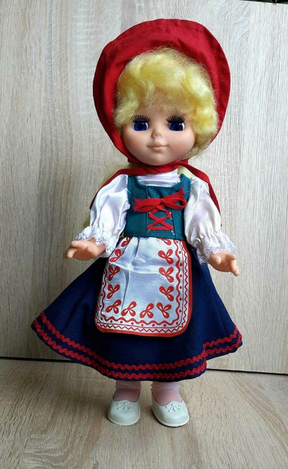 Década de 1970 urss Soviet Russian Muñeca personaje de cuento de hadas  Little rojo Cap