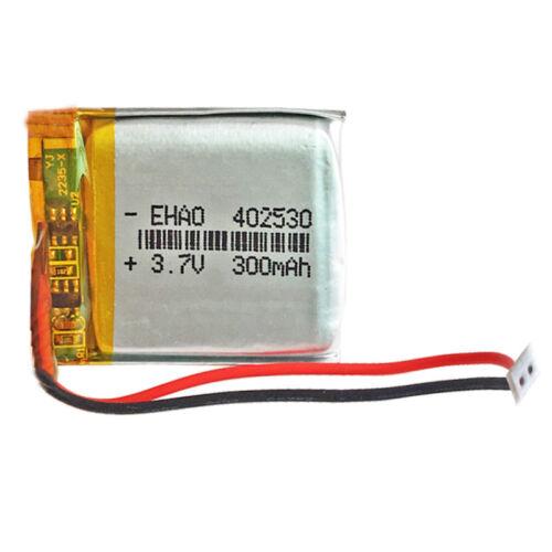 Battery 402530 Lipo 3.7V 300mAh Connector Jst-Ph 1.50mm 2 Pins mp4 Bluetooth GPS