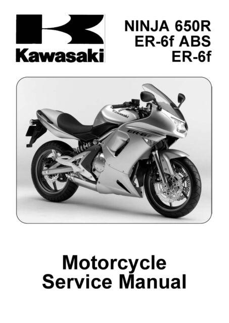 Kawasaki Service Manual 2006  2007  U0026 2008 Ninja 650r Er