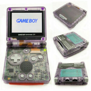 Nintendo Game Boy Advance Gba Sp Clear Atomic Purple System Ags 101 Brighter New Ebay