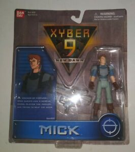 1999-NEW-MOC-Vintage-Bandai-Xyber-9-New-Dawn-Mick-Action-Figure