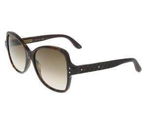 Bottega-Veneta-Damen-Sonnenbrille-Plastik-BV0045S-004-Havanna-Braun-Braun