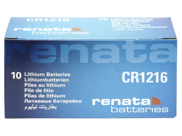 10 X Renata Cr1216 Pila Bottone Batteria 3v Replace Cr Br Dl Ecr Kcr Lm Ml 1216