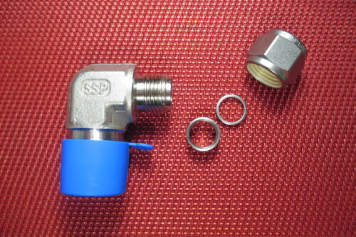 SSP Grip® 3//8 Tube OD x 1//2 NPT Male Pipe 90 ELBOW CONNECTOR 316 Stainless Steel