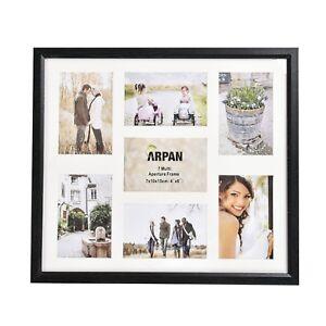 Multi-Aperture-7-Photos-6x4-034-Picture-Frame-Black